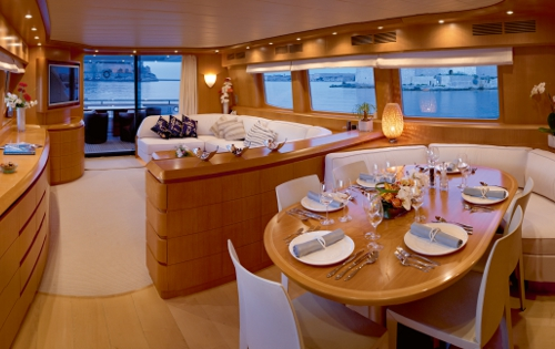 Motor yacht MEME -  Main Salon and Dining